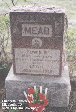 MEAD, EDWIN R. - Elbert County, Colorado | EDWIN R. MEAD - Colorado Gravestone Photos