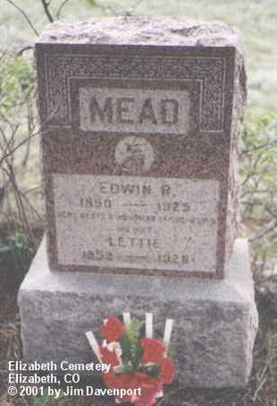 MEAD, LETTIE - Elbert County, Colorado | LETTIE MEAD - Colorado Gravestone Photos