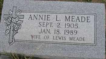 MEADE, ANNIE L. - Elbert County, Colorado | ANNIE L. MEADE - Colorado Gravestone Photos