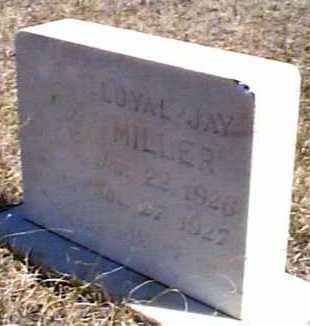 MILLER, LOYAL JAY - Elbert County, Colorado | LOYAL JAY MILLER - Colorado Gravestone Photos