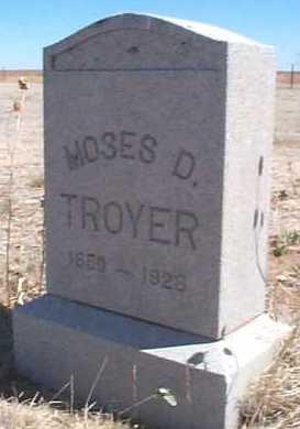 TROYER, MOSES D. - Elbert County, Colorado   MOSES D. TROYER - Colorado Gravestone Photos