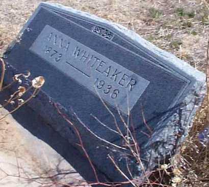 WHITEAKER, ANNA - Elbert County, Colorado   ANNA WHITEAKER - Colorado Gravestone Photos