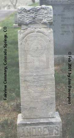 ANDREWS, THOMAS E. - El Paso County, Colorado | THOMAS E. ANDREWS - Colorado Gravestone Photos