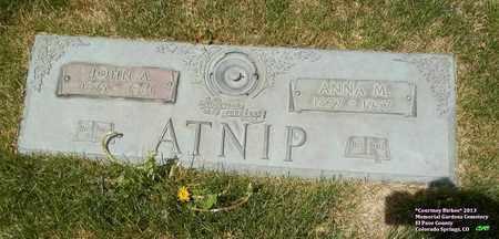 ATNIP, JOHN A. - El Paso County, Colorado | JOHN A. ATNIP - Colorado Gravestone Photos