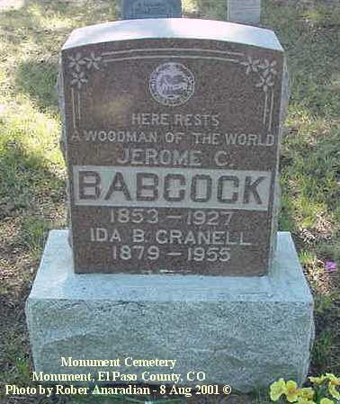 BABCOCK, JEROME C. - El Paso County, Colorado | JEROME C. BABCOCK - Colorado Gravestone Photos