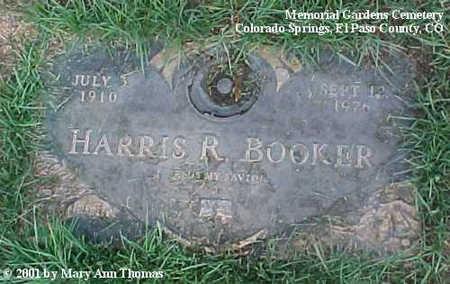 BOOKER, HARRIS R. - El Paso County, Colorado | HARRIS R. BOOKER - Colorado Gravestone Photos