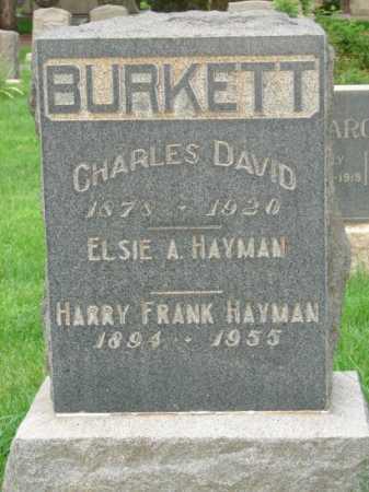 BURKETT, CHARLES DAVID - El Paso County, Colorado | CHARLES DAVID BURKETT - Colorado Gravestone Photos