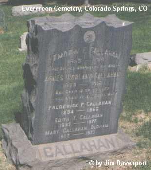CALLAHAN, FREDERICK P. - El Paso County, Colorado | FREDERICK P. CALLAHAN - Colorado Gravestone Photos