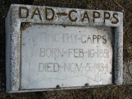 CAPPS, TIMOTHY - El Paso County, Colorado   TIMOTHY CAPPS - Colorado Gravestone Photos