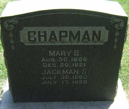 CHAPMAN, JACKMAN S - El Paso County, Colorado | JACKMAN S CHAPMAN - Colorado Gravestone Photos