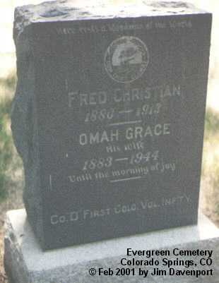 CHRISTIAN, FRED - El Paso County, Colorado | FRED CHRISTIAN - Colorado Gravestone Photos