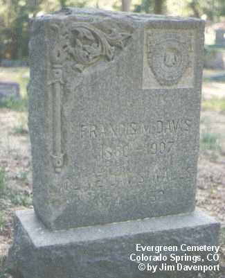 DAVIS, FRANCIS M. - El Paso County, Colorado | FRANCIS M. DAVIS - Colorado Gravestone Photos