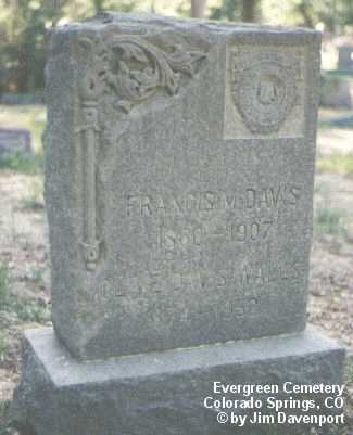 DAVIS, FRANCIS M. - El Paso County, Colorado | FRANCIS M. DAVIS - Colorado Gravestone Photos