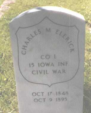 ELERICK, CHARLES M. - El Paso County, Colorado | CHARLES M. ELERICK - Colorado Gravestone Photos