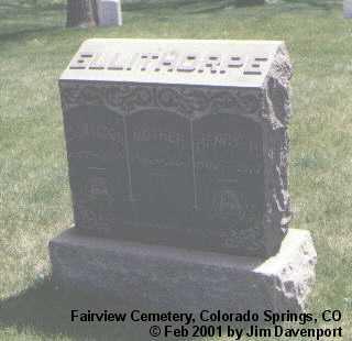 ELLITHORPE, HENRY H. - El Paso County, Colorado | HENRY H. ELLITHORPE - Colorado Gravestone Photos