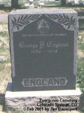 ENGLAND, GEORGE H. - El Paso County, Colorado   GEORGE H. ENGLAND - Colorado Gravestone Photos