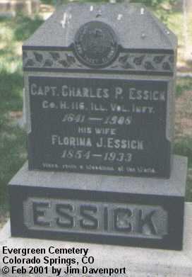 ESSICK, CHARLES P. - El Paso County, Colorado   CHARLES P. ESSICK - Colorado Gravestone Photos