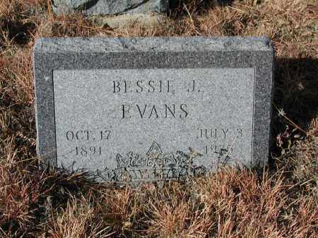 EVANS, BESSIE J. - El Paso County, Colorado | BESSIE J. EVANS - Colorado Gravestone Photos