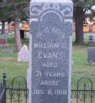 EVANS, WILLIAM B - El Paso County, Colorado | WILLIAM B EVANS - Colorado Gravestone Photos