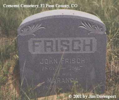 FRISCH, MARANDA - El Paso County, Colorado | MARANDA FRISCH - Colorado Gravestone Photos