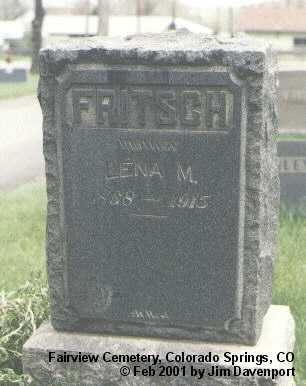 FRITSCH, LENA M. - El Paso County, Colorado   LENA M. FRITSCH - Colorado Gravestone Photos