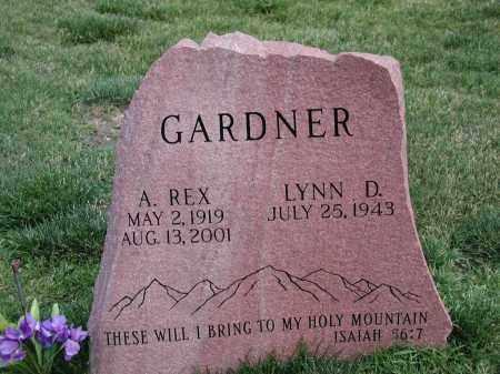 GARDNER, A. REX - El Paso County, Colorado | A. REX GARDNER - Colorado Gravestone Photos