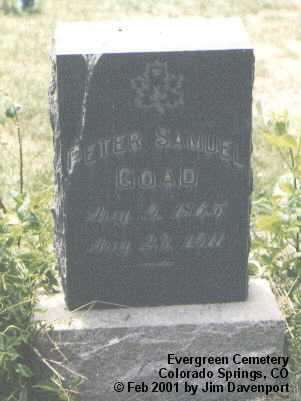 GOAD, PETER SAMUEL - El Paso County, Colorado | PETER SAMUEL GOAD - Colorado Gravestone Photos