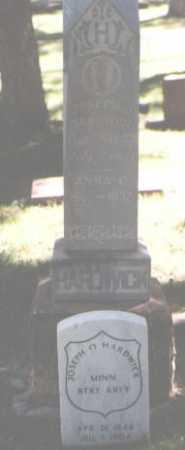 HARDWICK, JOSEPH O. - El Paso County, Colorado   JOSEPH O. HARDWICK - Colorado Gravestone Photos