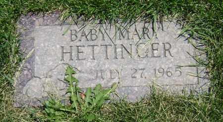HETTINGER, BABY MARY - El Paso County, Colorado | BABY MARY HETTINGER - Colorado Gravestone Photos