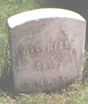 HICKS, A. E. - El Paso County, Colorado   A. E. HICKS - Colorado Gravestone Photos