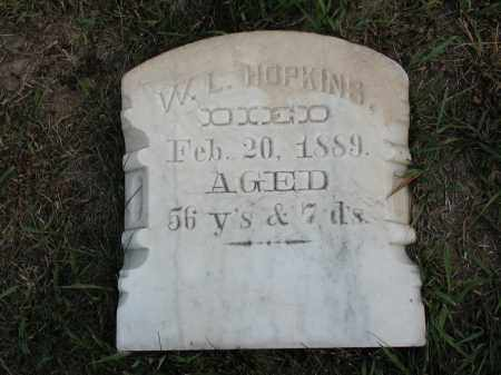 HOPKINS, W. L. - El Paso County, Colorado   W. L. HOPKINS - Colorado Gravestone Photos