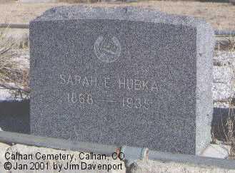 HUBKA, SARAH E. - El Paso County, Colorado   SARAH E. HUBKA - Colorado Gravestone Photos
