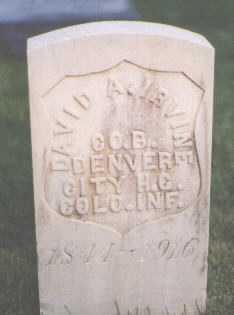 IRVINE, DAVID A. - El Paso County, Colorado | DAVID A. IRVINE - Colorado Gravestone Photos