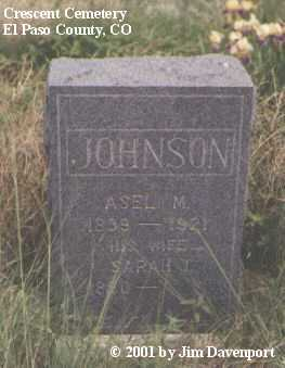 JOHNSON, ASEL M. - El Paso County, Colorado | ASEL M. JOHNSON - Colorado Gravestone Photos