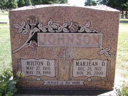 JOHNSON, MARJEAN D. - El Paso County, Colorado | MARJEAN D. JOHNSON - Colorado Gravestone Photos