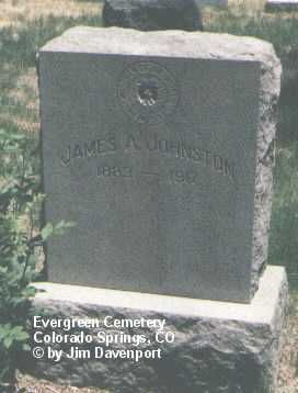 JOHNSTON, JAMES A. - El Paso County, Colorado   JAMES A. JOHNSTON - Colorado Gravestone Photos