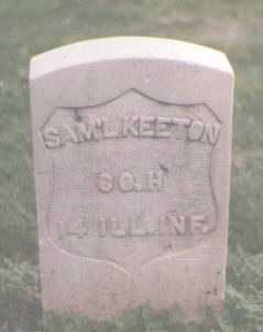 KEETON, SAM'L - El Paso County, Colorado   SAM'L KEETON - Colorado Gravestone Photos