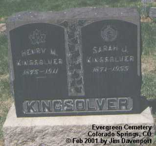 KINGSOLVER, HENRY M. - El Paso County, Colorado | HENRY M. KINGSOLVER - Colorado Gravestone Photos