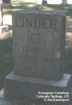 LINDER, LEMUEL - El Paso County, Colorado | LEMUEL LINDER - Colorado Gravestone Photos