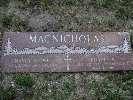 MACNICHOLAS, RONALD - El Paso County, Colorado | RONALD MACNICHOLAS - Colorado Gravestone Photos