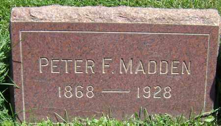 MADDEN, PETER F - El Paso County, Colorado | PETER F MADDEN - Colorado Gravestone Photos
