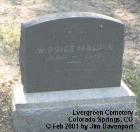 MAUPIN, W. PRICE - El Paso County, Colorado | W. PRICE MAUPIN - Colorado Gravestone Photos