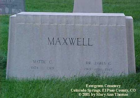 MAXWELL, MATTIE C. - El Paso County, Colorado | MATTIE C. MAXWELL - Colorado Gravestone Photos