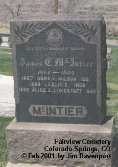 MCINTIER, LESLIE E. - El Paso County, Colorado | LESLIE E. MCINTIER - Colorado Gravestone Photos