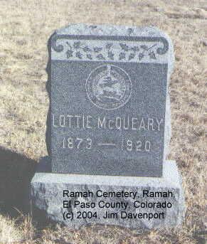 MCQUEARY, LOTTIE - El Paso County, Colorado   LOTTIE MCQUEARY - Colorado Gravestone Photos