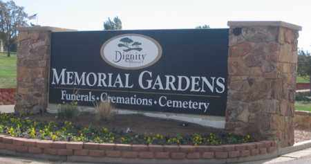 *MEMORIAL GARDENS, ENTRANCE - El Paso County, Colorado | ENTRANCE *MEMORIAL GARDENS - Colorado Gravestone Photos