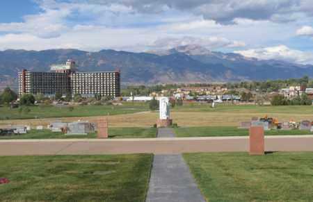 *MEMORIAL GARDENS, VIEW - El Paso County, Colorado   VIEW *MEMORIAL GARDENS - Colorado Gravestone Photos