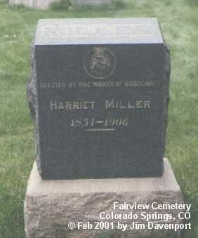 MILLER, HARRIET - El Paso County, Colorado | HARRIET MILLER - Colorado Gravestone Photos