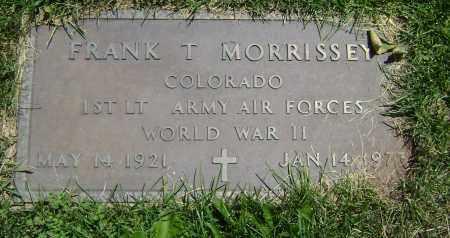 MORRISSEY, FRANK T - El Paso County, Colorado | FRANK T MORRISSEY - Colorado Gravestone Photos
