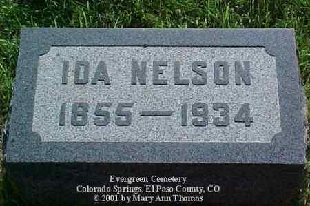 ROUNSAVELL NELSON, IDA - El Paso County, Colorado   IDA ROUNSAVELL NELSON - Colorado Gravestone Photos